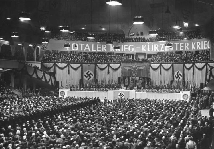 Berlin, Großkundgebung im Sportpalast